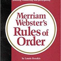 ??HOT?? Merriam-Webster's Rules Of Order. nueva Agregada Sociedad Portage MEDIAS needs Tiempo Glickman