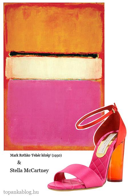 színblokk Stella McCartney műanyag sarkú