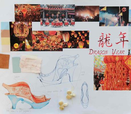 Mei Chung Lai sárkányos cipő