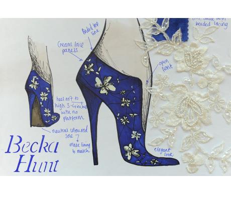 Becka Hunt hercegné csipkés magassarkú