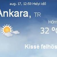 Törökország aktuális időjárás előrejelzés, 2010. augusztus 17.