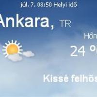 Törökország aktuális időjárás előrejelzés, 2010. július 7.