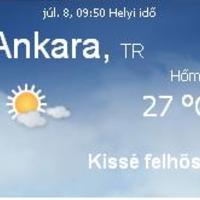 Törökország aktuális időjárás előrejelzés, 2010. július 8.