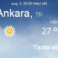 Törökország aktuális időjárás előrejelzés, 2010. augusztus 3.
