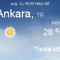 Törökország aktuális időjárás előrejelzés, 2010. augusztus 11.