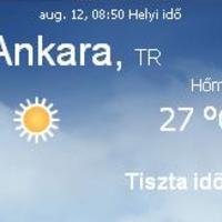 Törökország aktuális időjárás előrejelzés, 2010. augusztus 12.