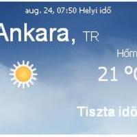 Törökország aktuális időjárás előrejelzés, 2010. augusztus 24.