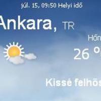 Törökország aktuális időjárás előrejelzés, 2010. július 27.