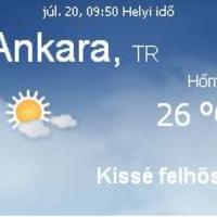 Törökország aktuális időjárás előrejelzés, 2010. július 20.