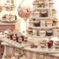 Esküvői desszertasztal