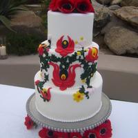 Esküvői torta kalocsai módra