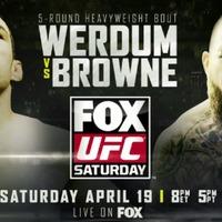 UFC On Fox 11: Werdum vs Browne eredmények