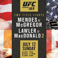 TD|MMA: UFC 189: Mendes vs. McGregor élő közvetítés