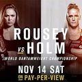 TD MMA: UFC 193: Rousey vs Holm mérkőzések videói