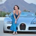 Bugatti Veyron a naplementében