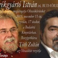 Budaörsi Olvasókör - 2015. november 11-én 17 órakor