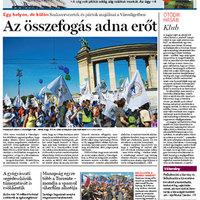 Népszabadság címlap 2012. május 1.