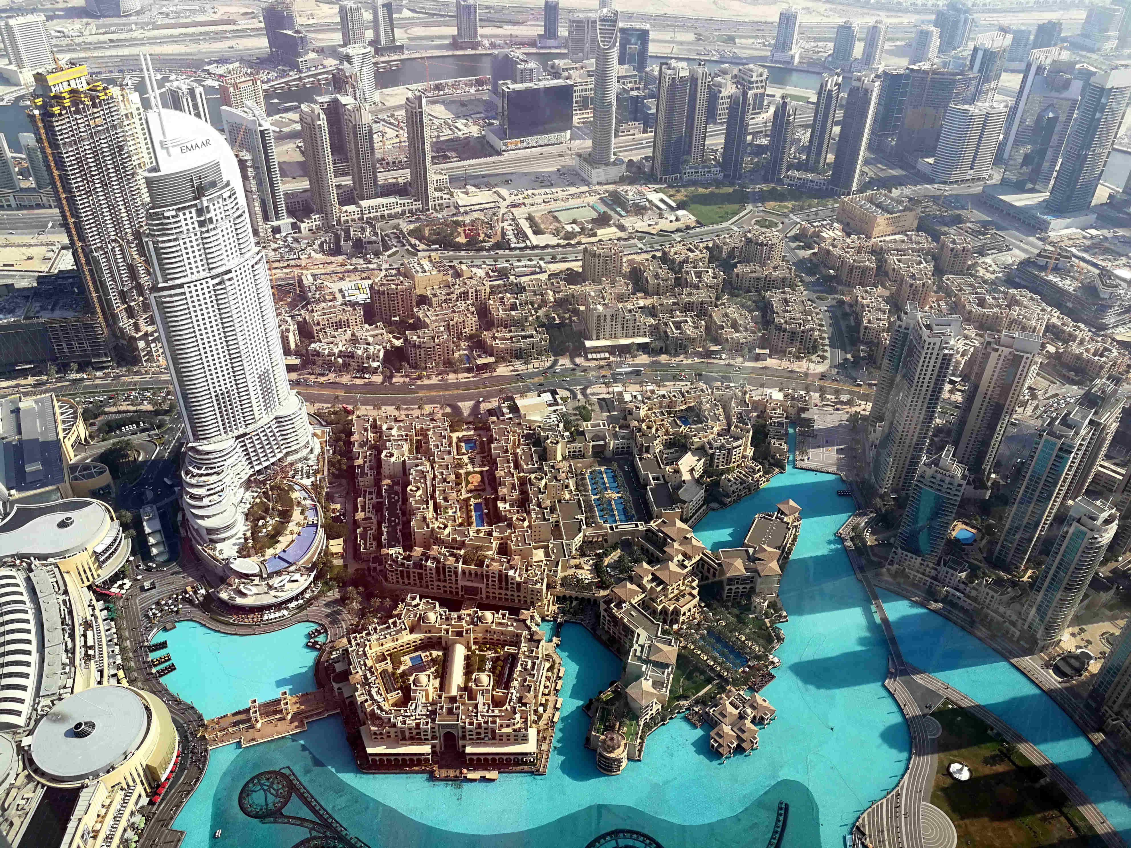 Kilátás a mosdóból. Tycoon City: Dubai