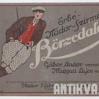 Mélázás a börzén - Gábor Andor börzedalai