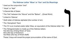 WAW or VAV / 6