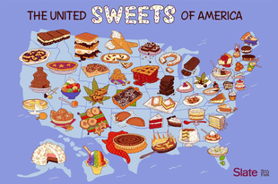 Amerika édességtérképe/The United Sweets of America