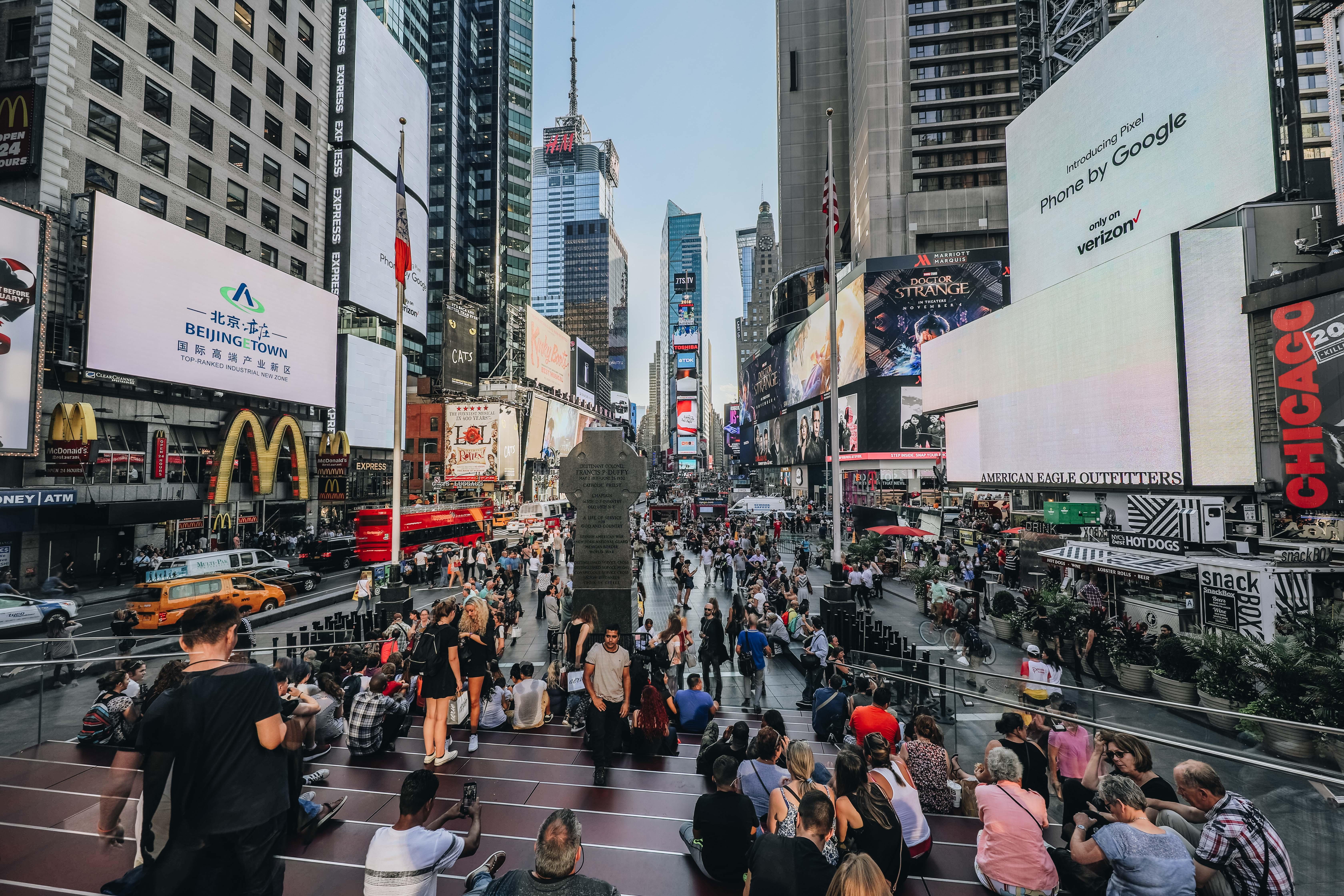 Time Square - nagyon fotógén, élőben jóval kisebbnek tűnik