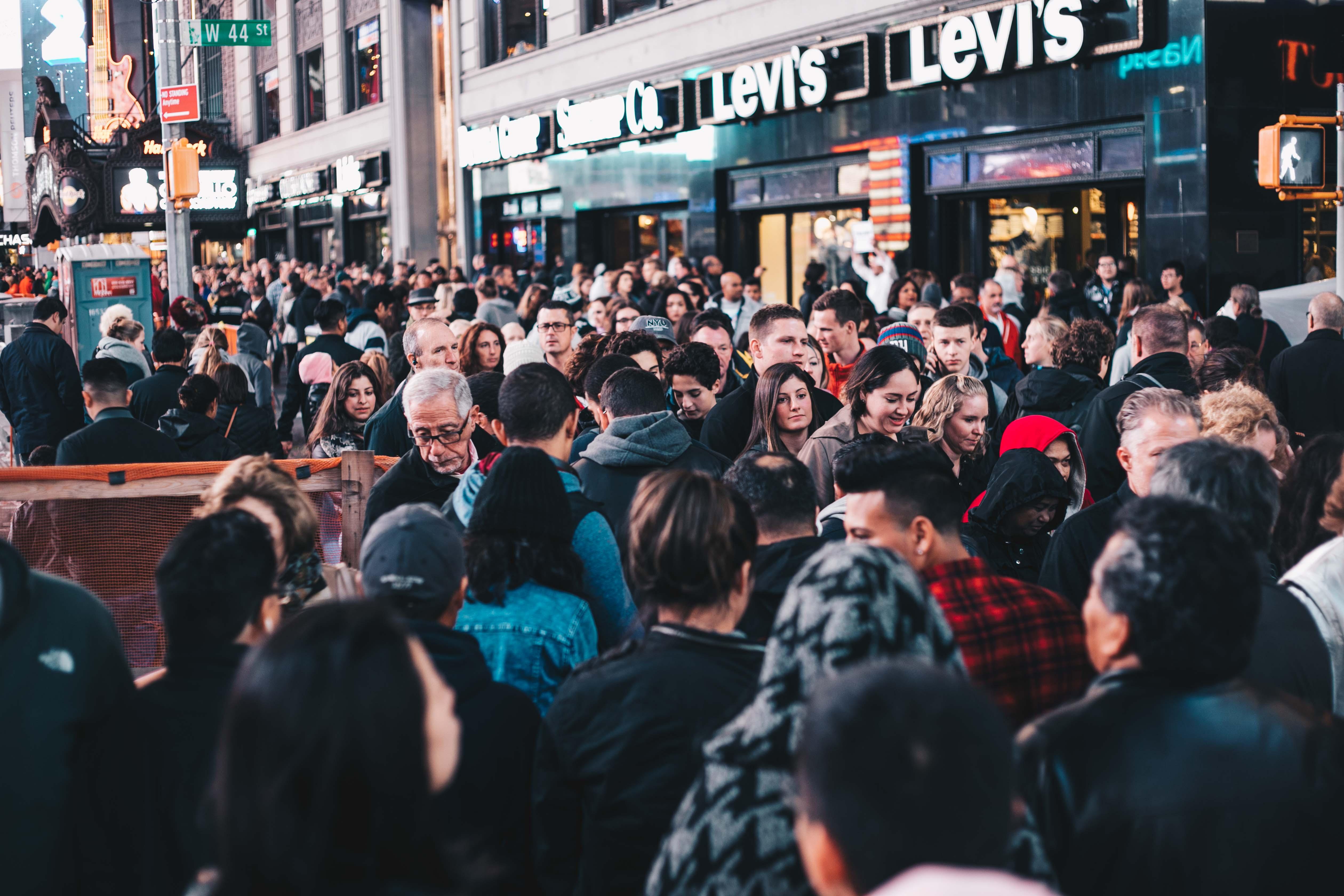 Végeláthatalan tömeg a Time Square közelében