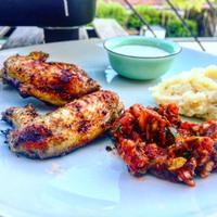 Ciderben érlelt thai grill csirkeszárnyak -