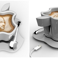 Geekbögre USB-csatlakozóval Apple-fanoknak