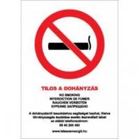 Milyen dohányzást tiltó táblát kell kihelyezni?