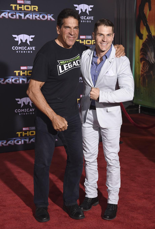 Lou Ferrigno (bal) és Lou Ferrigno Jr.