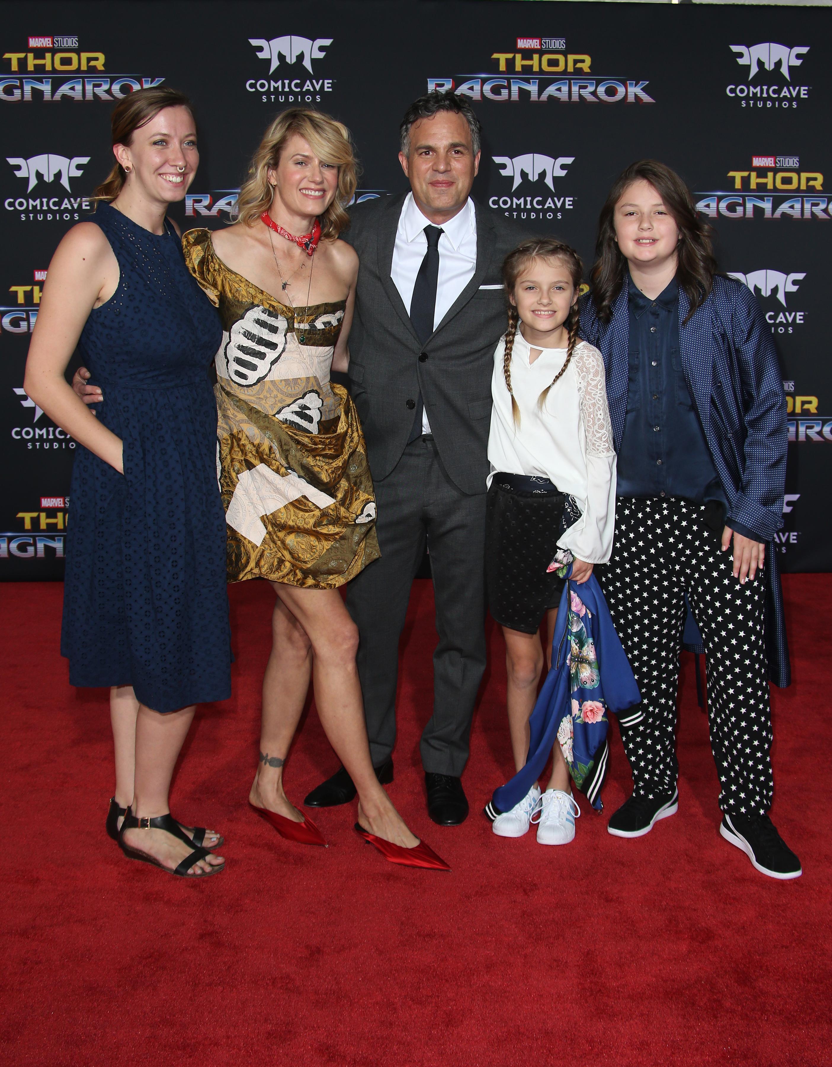 Mark Ruffalo és családja