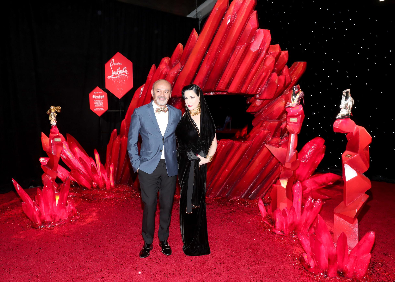 Christian Louboutin és Dita Von Teese