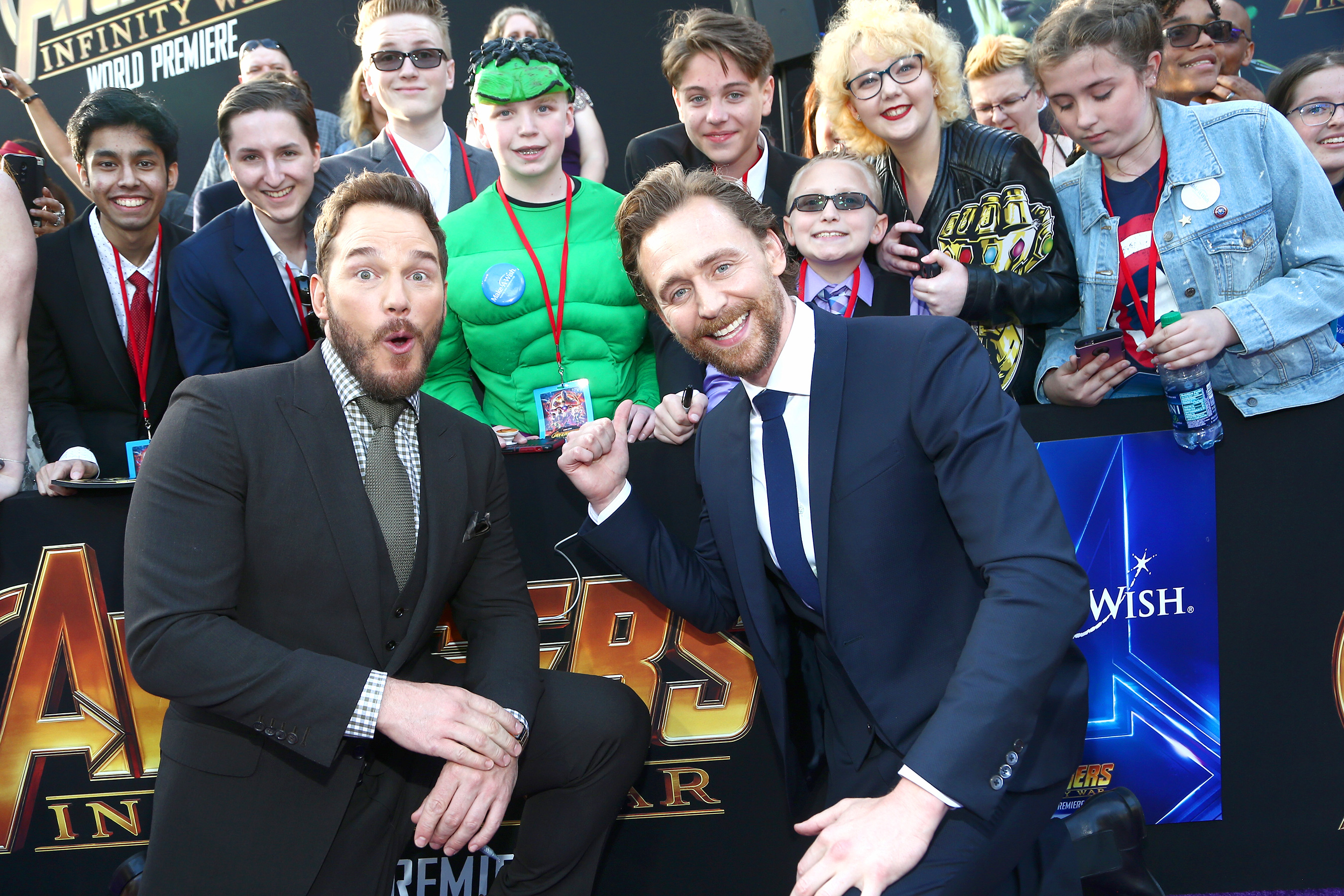 Chris Pratt és Tom Hiddleston