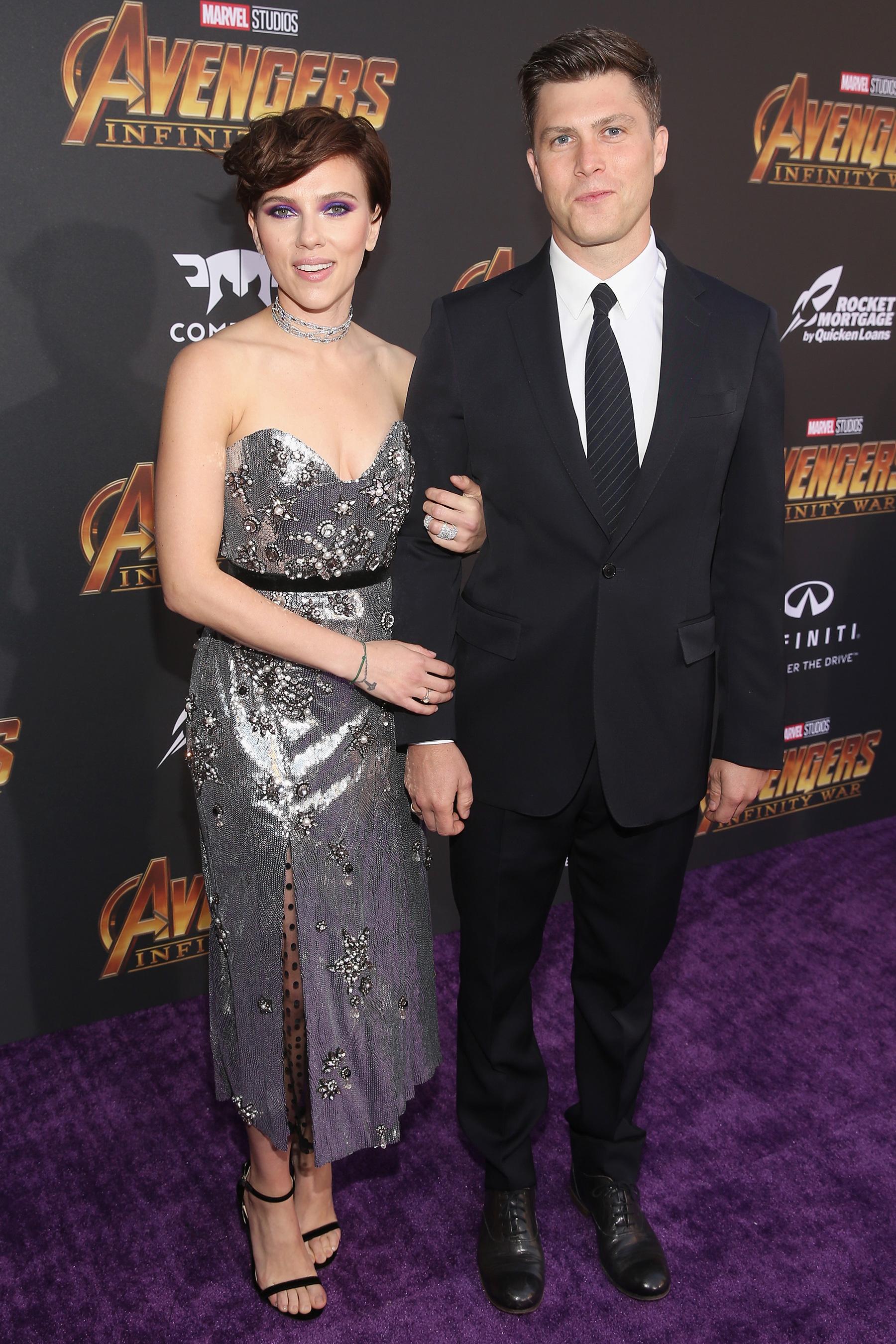 Scarlett Johansson és Colin Jost