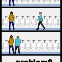 Trollface a nyilvános vécén