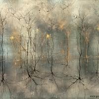 Idegtudós káprázatos tusfestményei az agyról