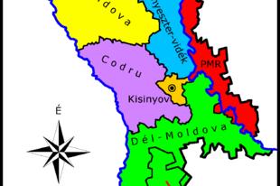 Moldova átnézeti térképe
