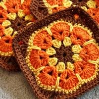 Őszi granny - african flower négyzetesítve