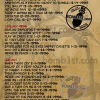 2Pac összes feljegyzett dala a Death Row-nál