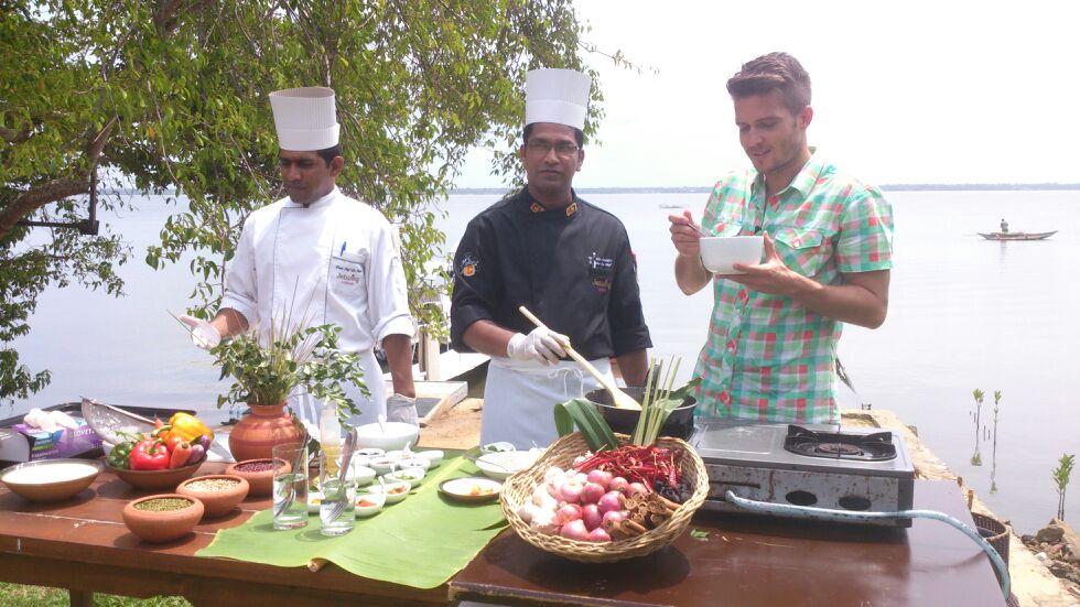 főzés a tengerparton