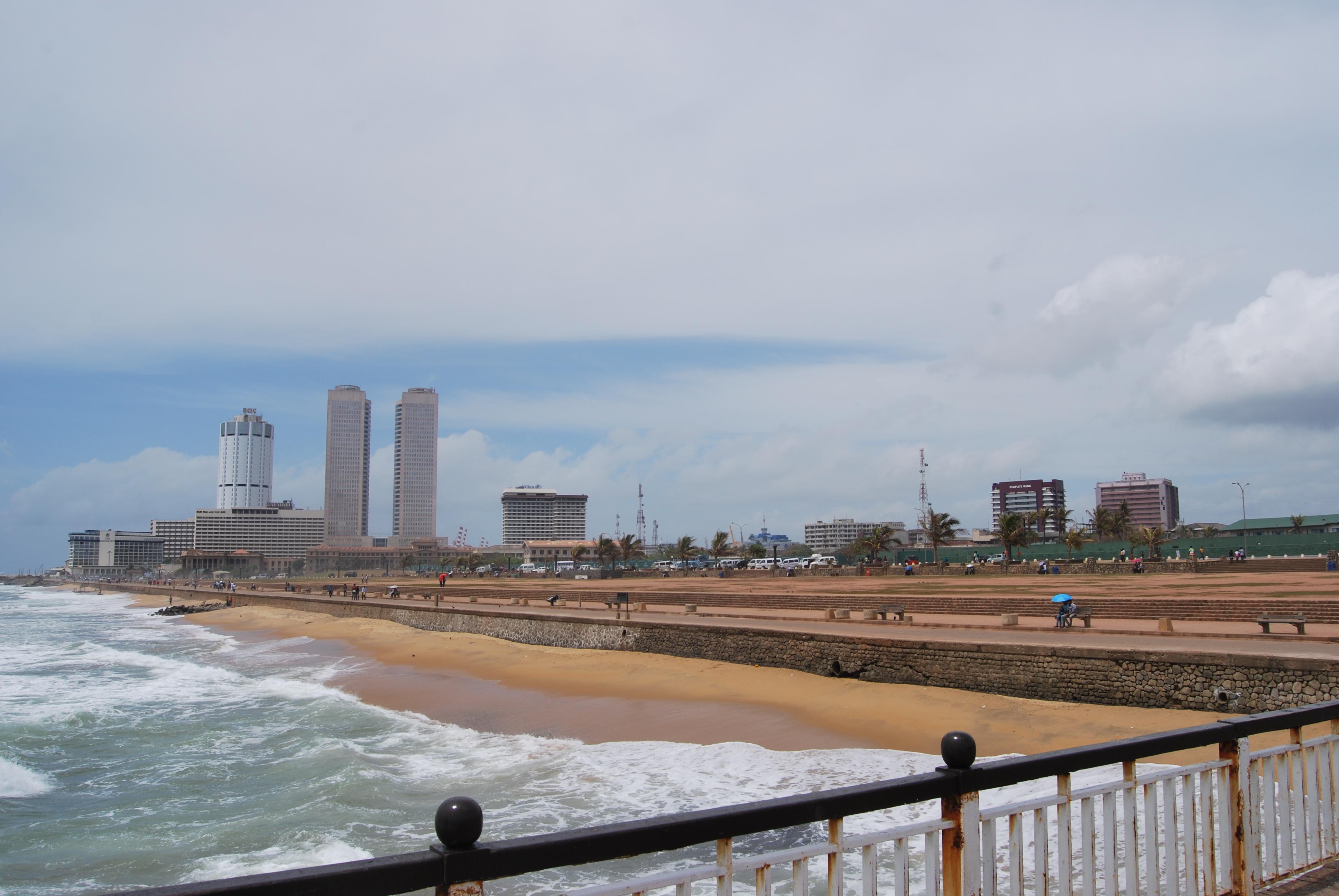 Colombo és az óceánpart
