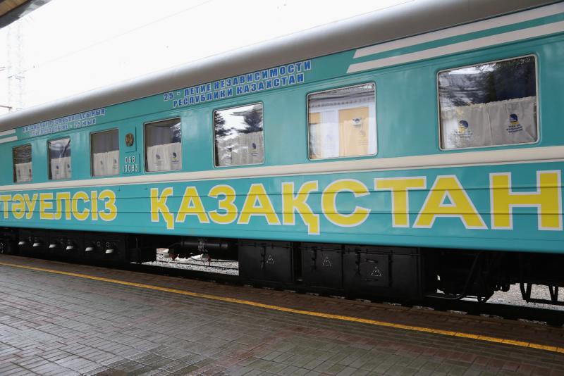'Független Kazahsztán' gyorsvonat indul Karagandába