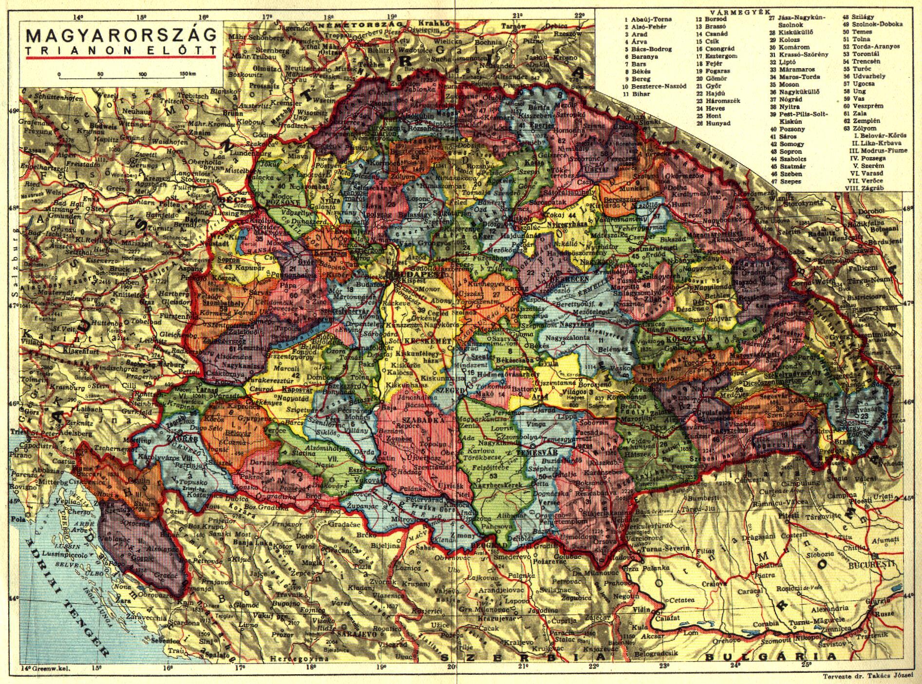 magyarország trianon előtt térkép GYALÁZAT VOLT  IGAZSÁGOK, GAZSÁGOK   SOKKÖZNAPOK magyarország trianon előtt térkép