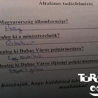 Általános felmérés a Dabasi iskolákban