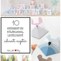 Tíz egyszerű és különleges, letölthető adventi naptár