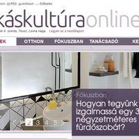 Skandináv-indusztriál fürdőszobánkról interjú és cikk a Lakáskultúrán!