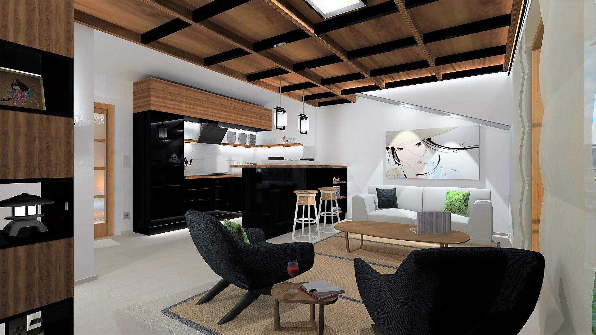 Japán stílusú lakásunk ötödik a Style&Draw év lakberendezője pályázatán