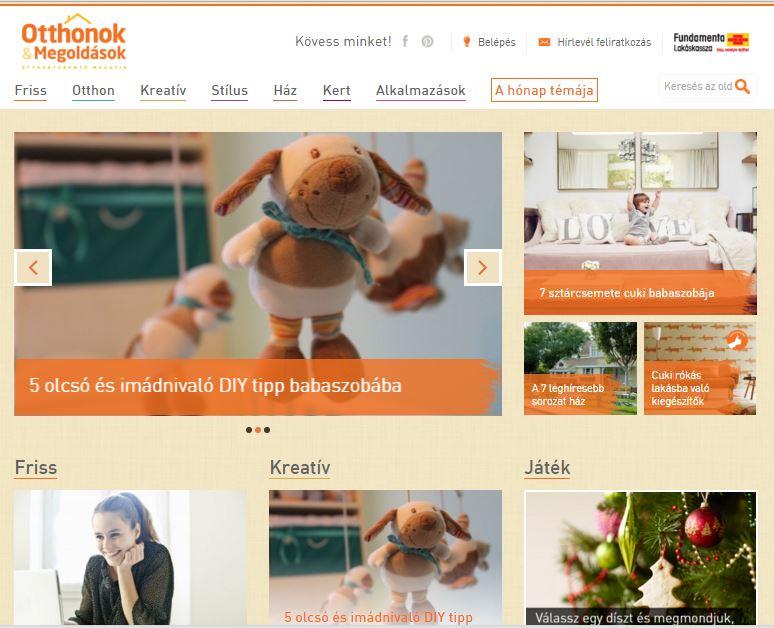 Különleges babaszoba diszités az Otthonok és Megoldások honlapján