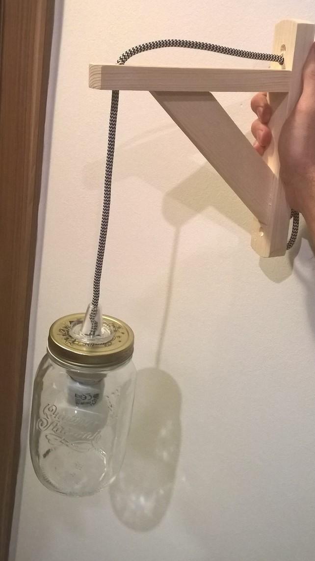 Trendi befőttes üveges fali lámpa 3000 Ft-ért